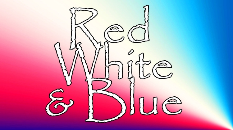 Red White And Blue Header Card